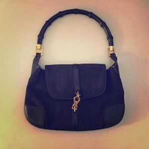Vintage Gucci handbag with bamboo handle !